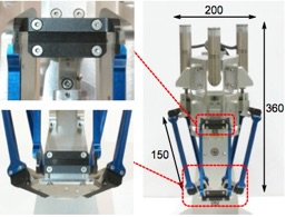 Soft parallel mechanism for optical industry
